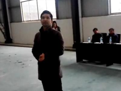【团队】董事长罗斌飞在军训会操完毕后的讲话