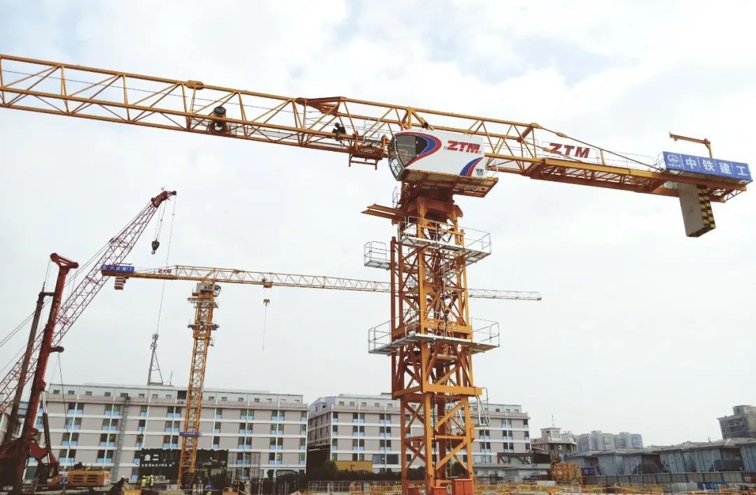 中铁建工携中天智能塔机助力广州地铁项目